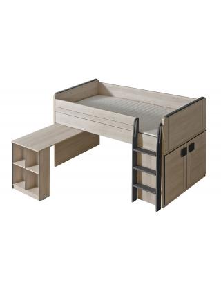 GUMI - Bett + Schrank + Schreibtisch